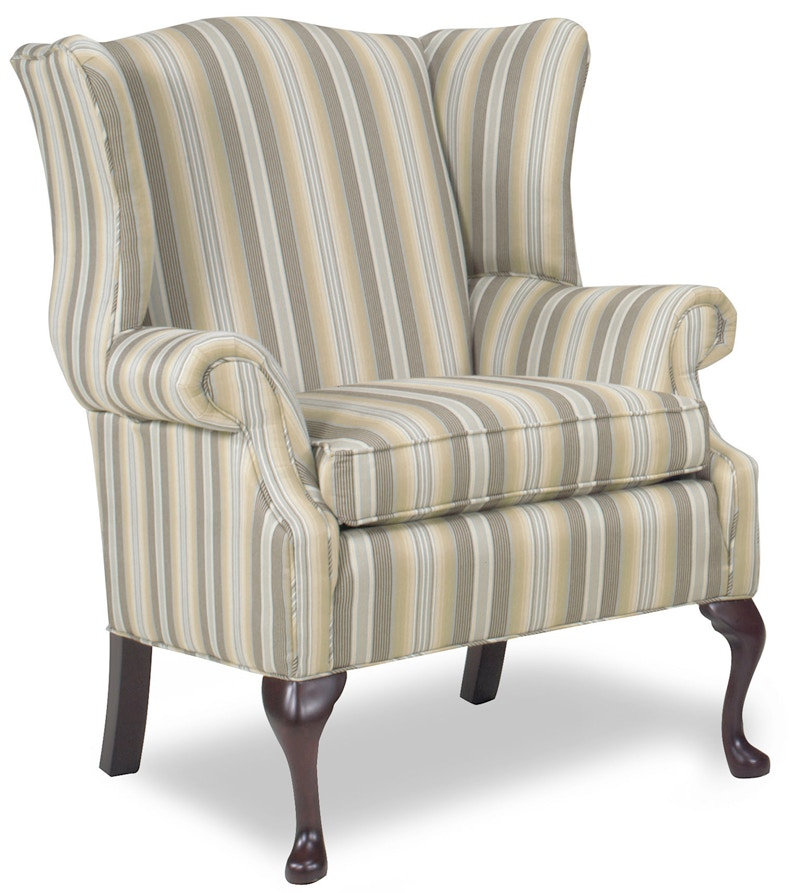 Temple Living Room Oxford Wing Chair 1175 At Fiore Furniture Company