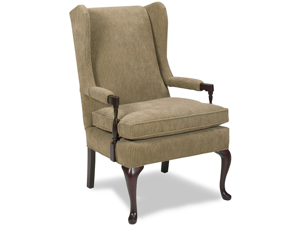 Temple living room madison wing chair 1285 fiore for Wing chairs for living room