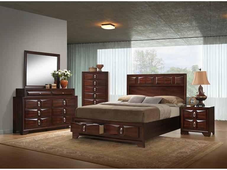 Simmons Upholstery & Casegoods Bedroom 1012-Queen Storage Drawers ...