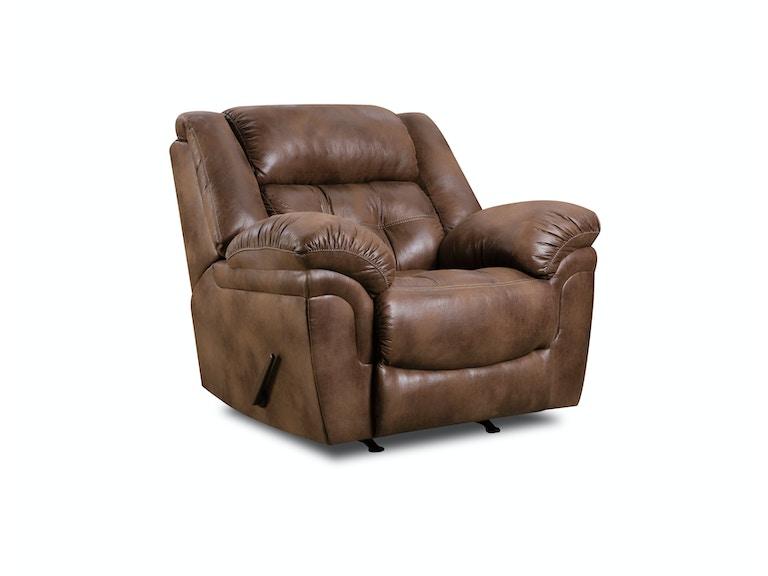 Simmons Upholstery Casegoods Living Room 50340 BR Rocker Recliner Gol