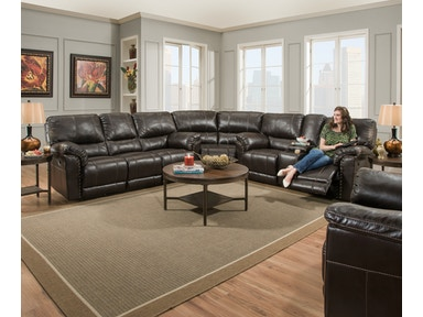 Simmons Upholstery & Casegoods 50961-BR Sectional 50961-BR-Sectional