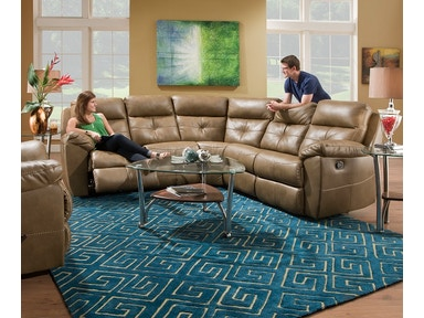 Simmons Upholstery & Casegoods 53200-BR Sectional 53200-BR-Sectional