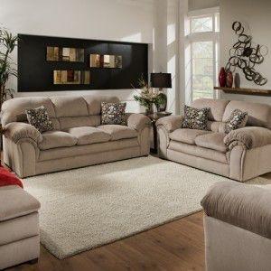 Simmons Upholstery & Casegoods Living Room 6150 Loveseat