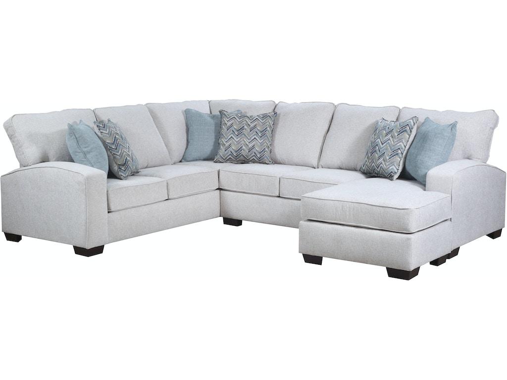 Simmons Upholstery & Casegoods Living Room RAF Sofa Chaise 7077-Sofa ...