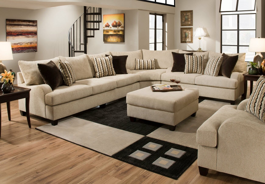 Simmons Upholstery & Casegoods Living Room 8520 Sectional