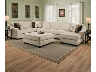 Simmons Upholstery & Casegoods 9355-BR Sectional 9355-BR-Sectional