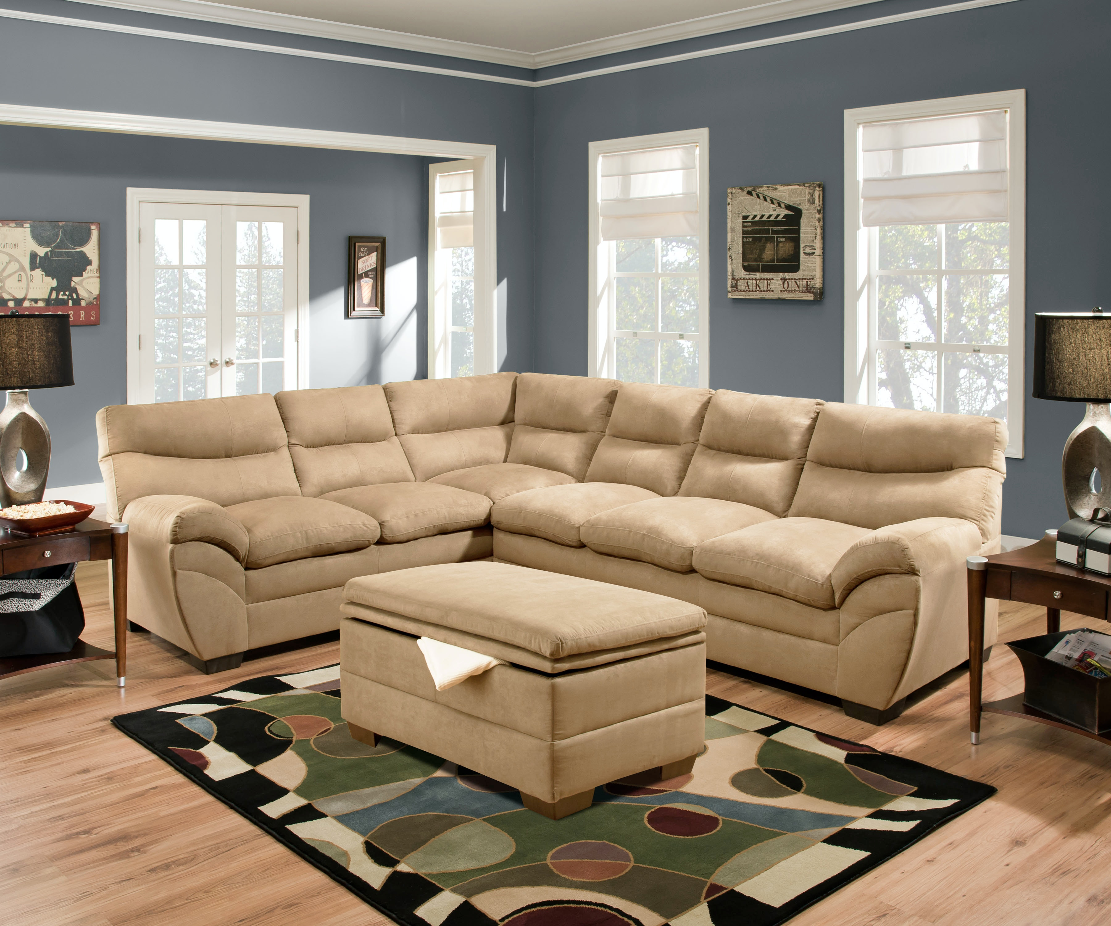 Simmons Upholstery & Casegoods Living Room 9515 Sectional