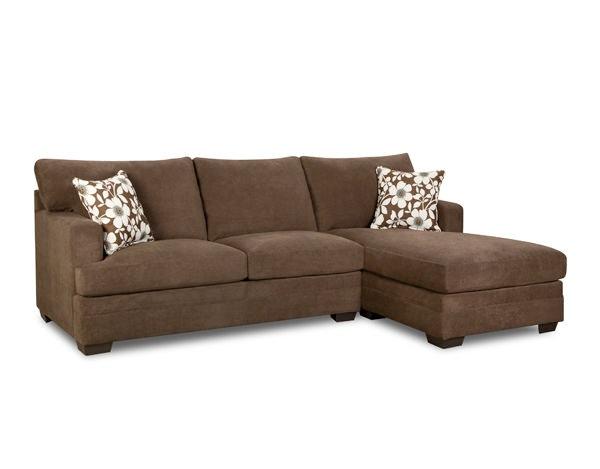Simmons Upholstery U0026 Casegoods 6491 RAF Bump Chaise