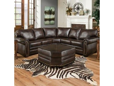 Simmons Upholstery & Casegoods Sectional 9222-DN-Sectional
