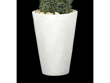 Tree Masters Large Tall Round White Tapered Metal w/White Finish 33LW