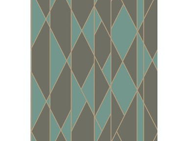 Cole & Son OBLIQUE TEAL AND BLACK 105/11048.CS