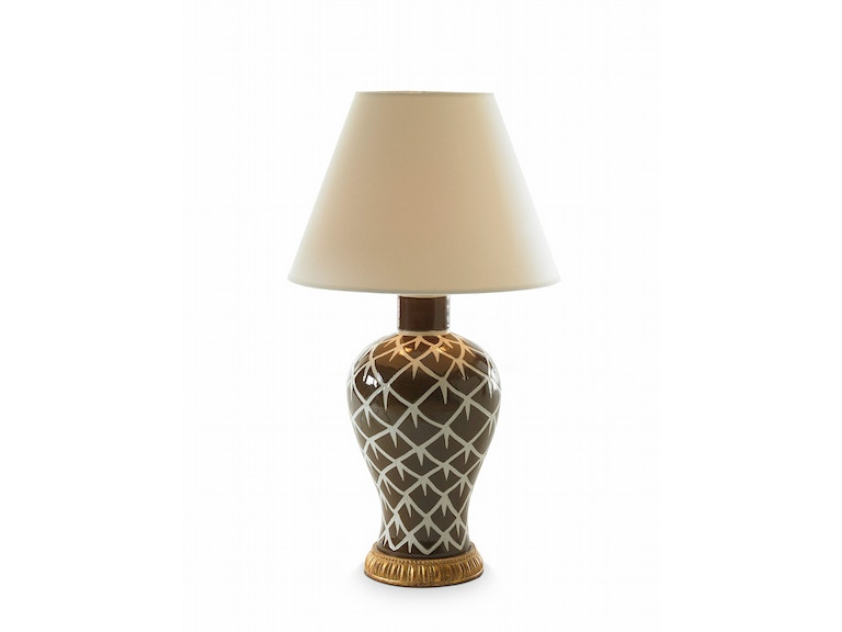 Bunny Williams Home Chicken Feather Lamp - Brown BLH1057