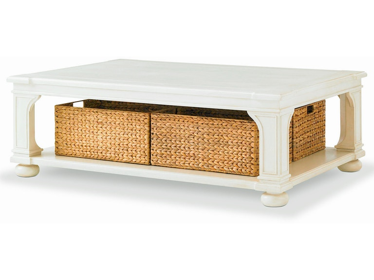 Bunny Williams Home Low Country Coffee Table - White BLH1004W