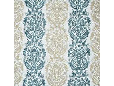 Mulberry Home STAVELEY DAMASK TEAL/CARAMEL FD697.R40