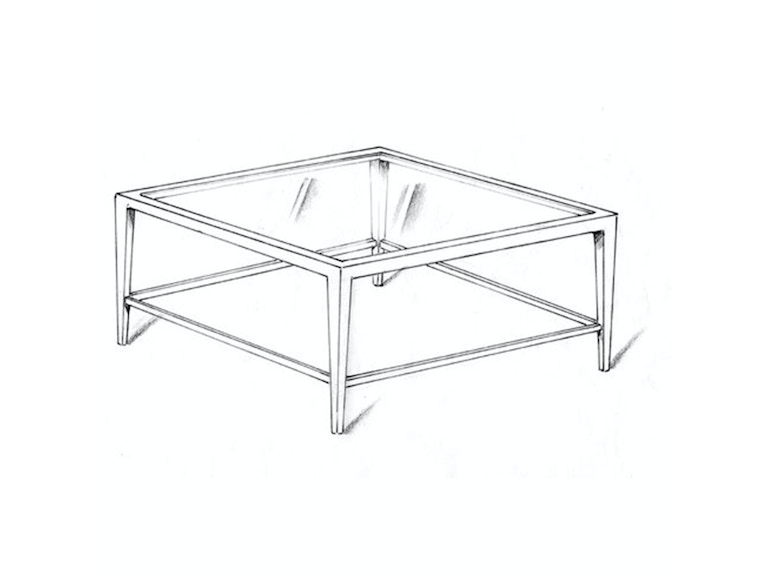 Lee Jofa Orly Square Cocktail Table Orly/42SQ