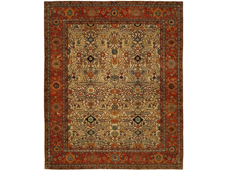 Lee Jofa Carpet Timin Ivory/Red CL-100384.IVO