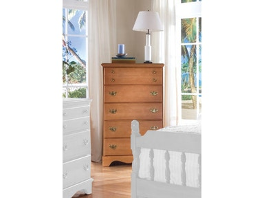 Carolina Furniture Works Five Drawer Chest 154500