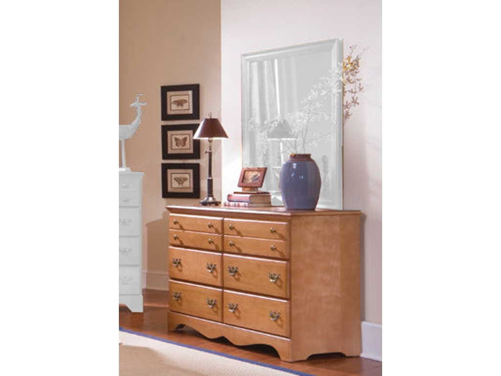 Carolina furniture works bedroom double dresser 155600 for Carolina furniture