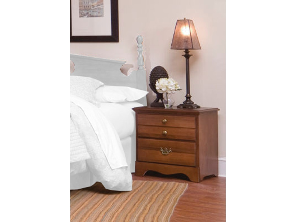 Carolina furniture works bedroom nightstand 182200 for Bedroom furniture night stands