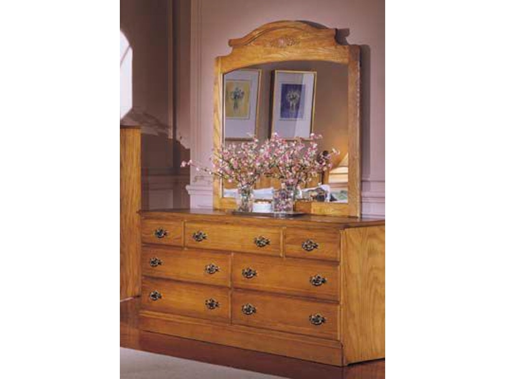 Carolina furniture works bedroom triple dresser 235700 for Carolina furniture