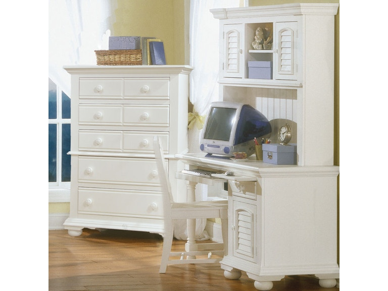 American Woodcrafters Computer Desk, Hutch & Chair 6510-DSKHC