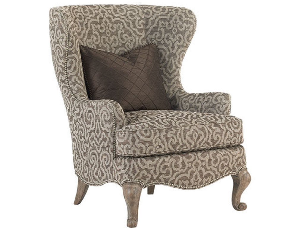 Lexington living room chapelle wing chair 1547 11 royal for Wing chairs for living room