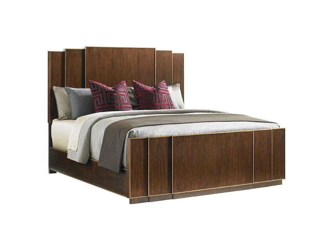 lexington bedroom fairmount panel bed king 706 134c