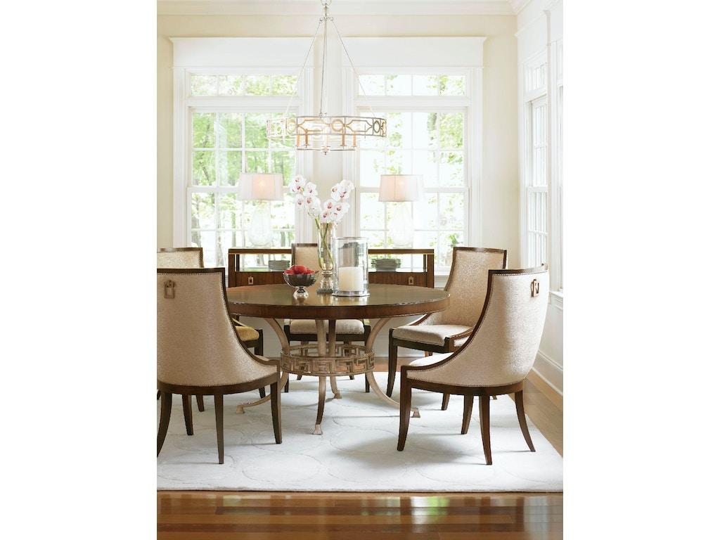 Lexington dining room regis round dining table 706 875c for Dining room johnson city tn