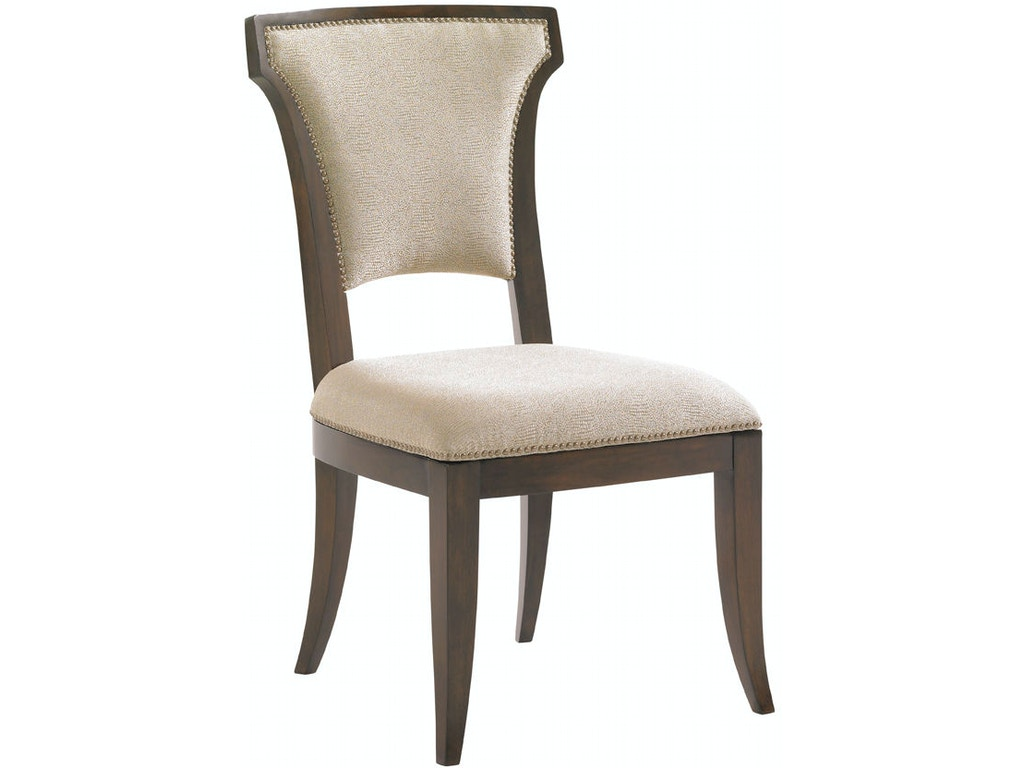 Lexington dining room seneca upholstered side chair 706 for Upholstered dining room side chairs