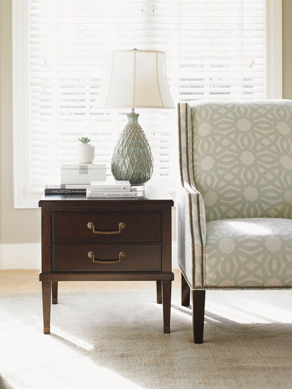 Lexington Living Room Chandler Drawer Lamp Table 4848 Issis Classy Living Room Chandler
