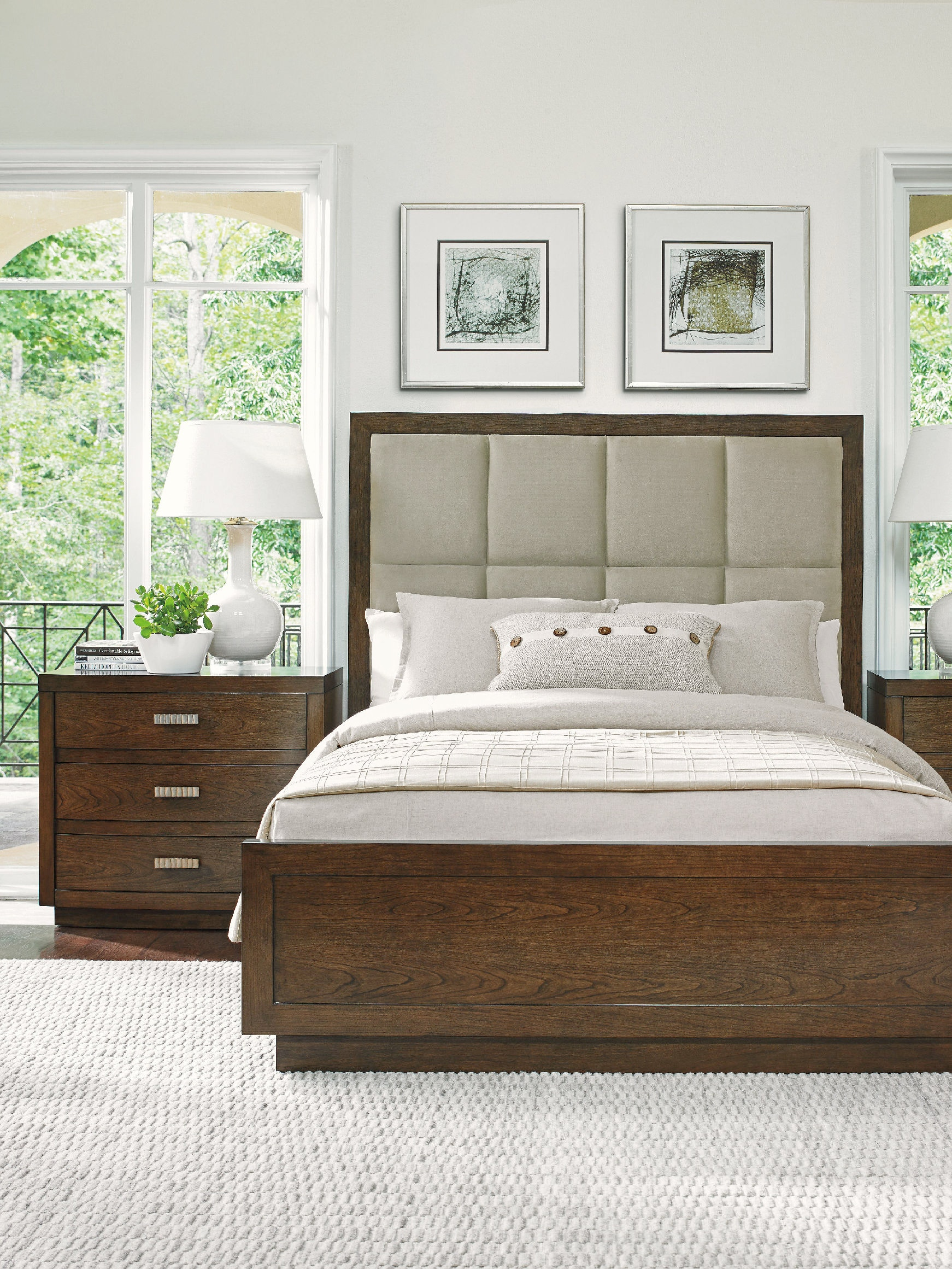 Lexington Bedroom Casa Del Mar Upholstered Bed 5/0 Queen 721-133C - Ennis Fine Furniture - Boise ...