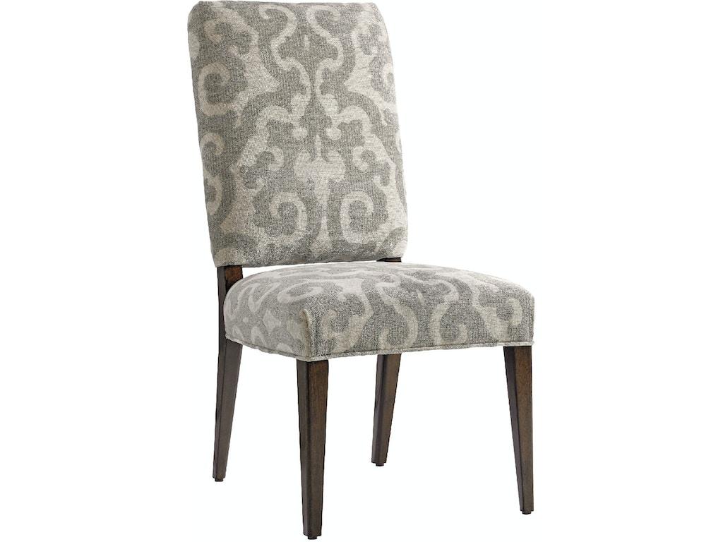 Lexington dining room sierra upholstered side chair 721 for Upholstered dining room side chairs