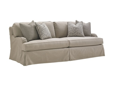 lexington living room stowe slipcover sofa 7476 33gy