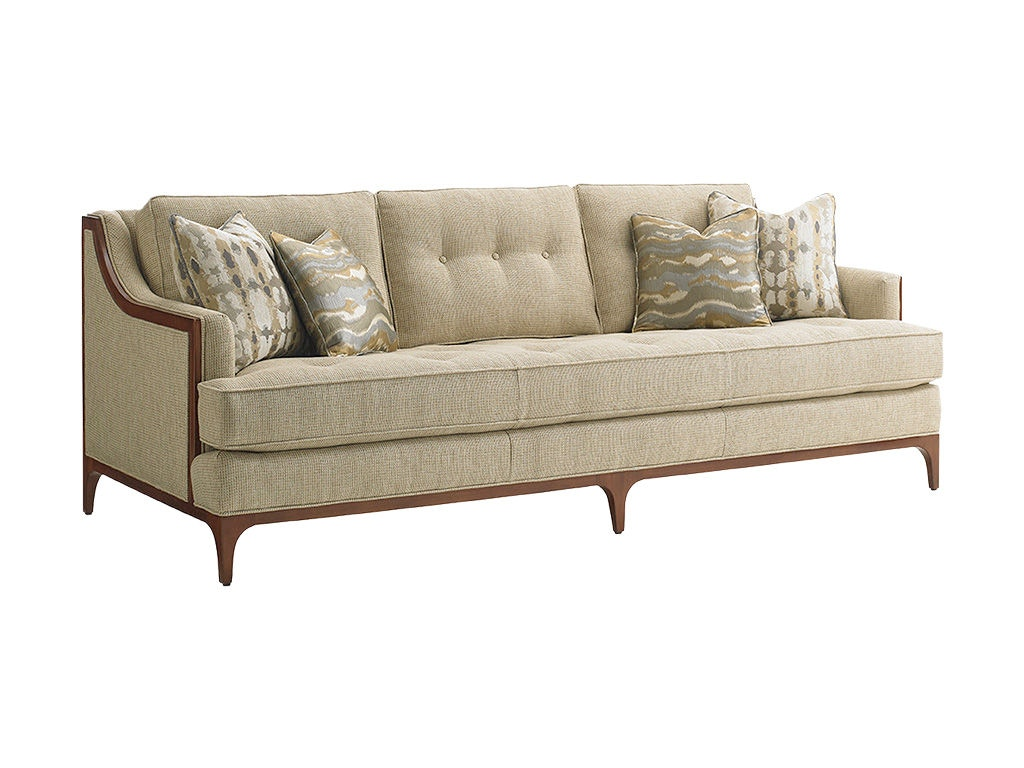 Lexington living room barclay sofa 7577 33 hickory for Furniture 80s band