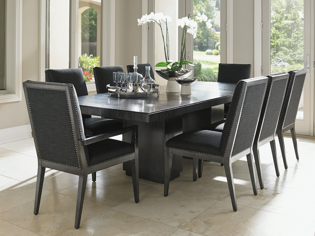 Lexington dining room modean double pedestal dining table - Norris furniture interiors fort myers fl ...