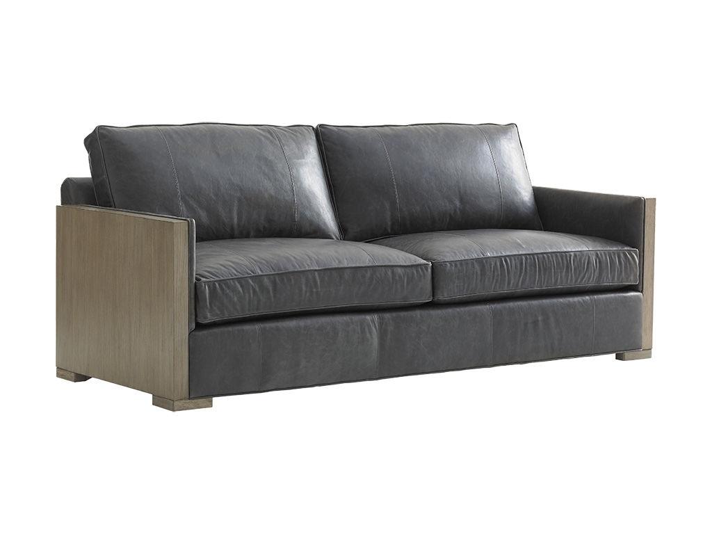 Lexington Living Room Deishire Leather Sofa LL1893 33   Kamin Furniture    Victoria, Texas