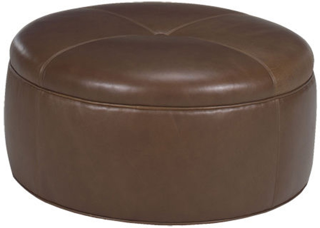 Lexington Living Room Reid Leather Ottoman Ll7847 44 Tin