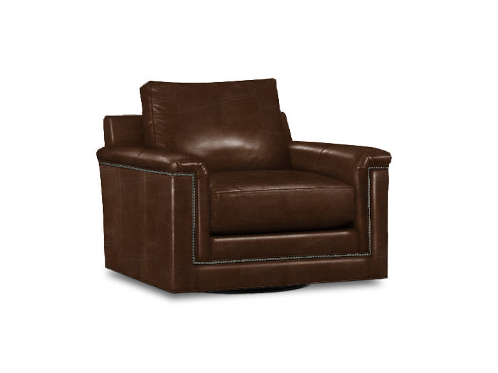 Lexington Living Room Balance Leather Swivel Chair Ll7886 11sw Stacy Furniture Grapevine