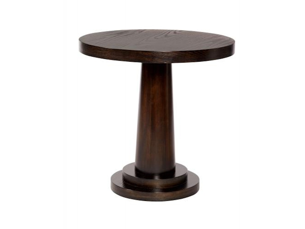 Bernhardt living room round end table 339 123 mcelherans for Living room round table