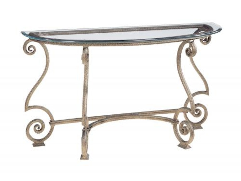 Bernhardt Console Table Glass Top and Base 364-912/ 364-913