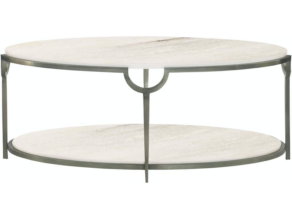 Bernhardt living room oval cocktail table 469 013 tin for Living room cocktail tables