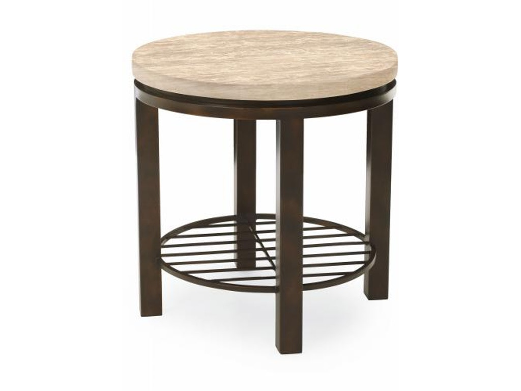 Bernhardt Living Room Round End Table 498 123 Finesse Furniture Interiors Edmonton
