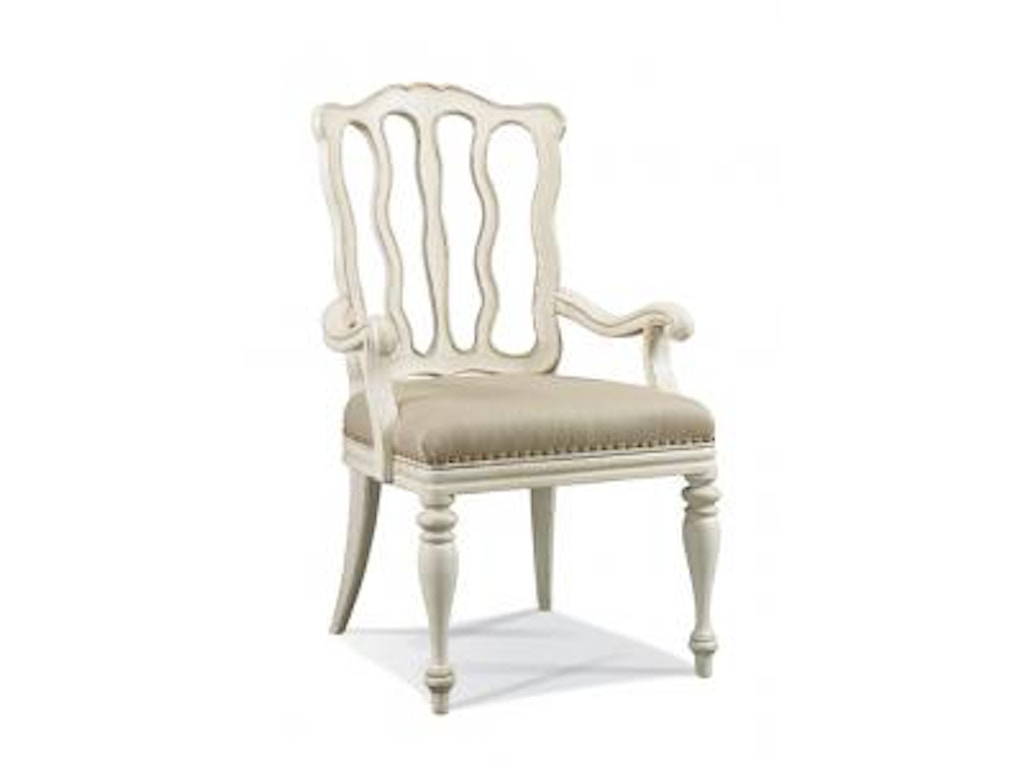hickory white dining room nadia arm chair 141 63 stowers furniture