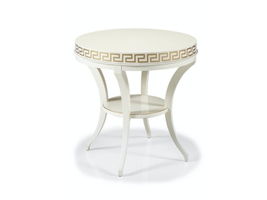 Hickory White Ruby Side Table