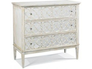 Hickory white bedroom tracery chest 245 62 eldredge furniture salt lake city ut for Bedroom furniture salt lake city