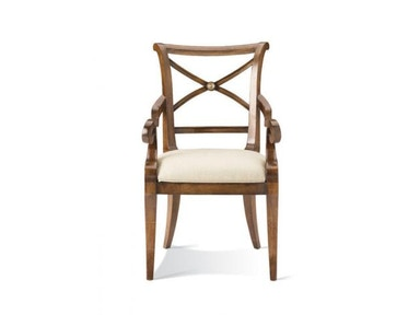 Hickory White X-Back Arm Chair 421-63