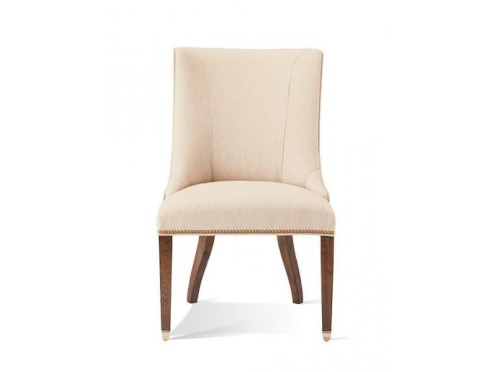 hickory white upholstered side chair 421 66