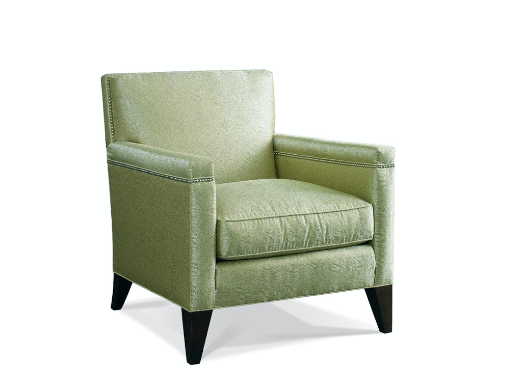 Hickory white living room upholstered arm chair 4234 01 louis shanks austin san antonio tx for Upholstered living room chairs with arms