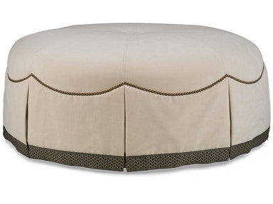 Hickory White Cocktail Ottoman 4857-20