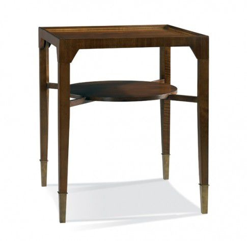 Hickory white living room side table 533 23 mcelherans fine
